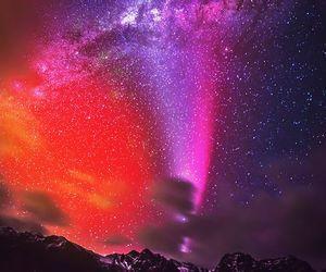 galaxy, sky, and stars image