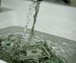 money, water, and dollar image