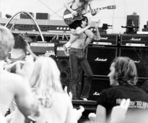 ac dc, angus young, and bon scott image