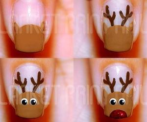 christmas, snow, and nails art image