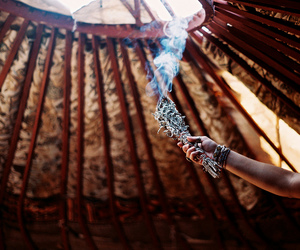 boho, hippie, and incense image