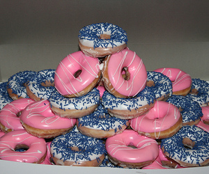 food, donuts, and pink image