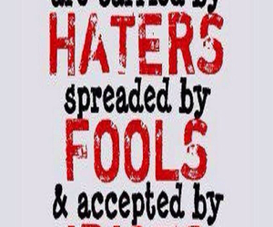 fools, idiots, and haters image