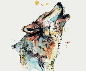 wolf, art, and beautiful image
