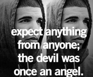 quote, Drake, and Devil image