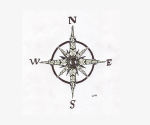 compass and tattoo image