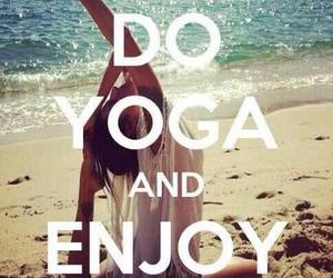 yoga, life, and beach image
