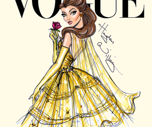 vogue, disney, and belle image