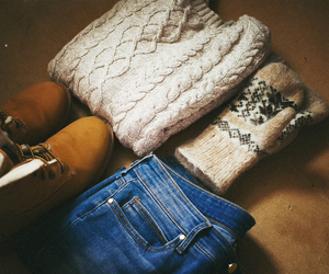 cosy, knit, and mittens image