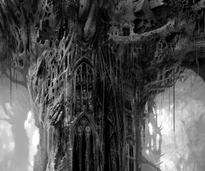 gothic and tree image
