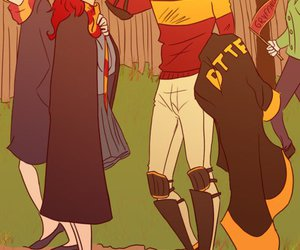 james potter, harry potter, and lily evans image