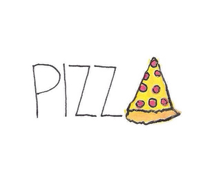 pizza, food, and yum image