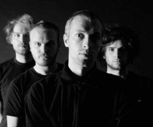 band, black and white, and Chris Martin image