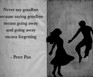 peter pan, goodbye, and quotes image
