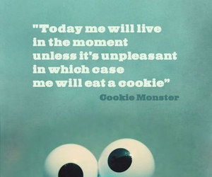 cookie monster, cookie, and quote image
