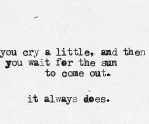 always, cry, and sun image