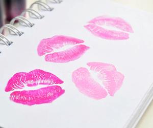 kiss, pink, and lips image