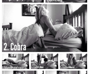 bed, workout, and fitness image