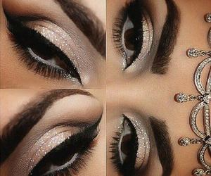 makeup, brillo, and stars image
