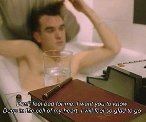 the smiths, asleep, and morrissey image