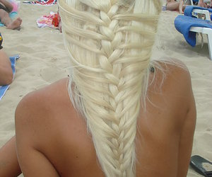 amazing, beach, and hair image