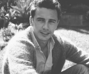 james franco, actor, and black and white image