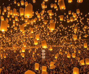 lanterns, light, and pretty image