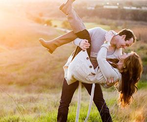 couple, sun, and cute image