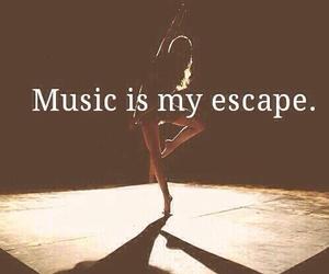escape, i, and music image