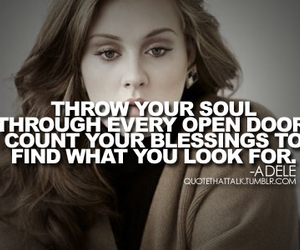Adele, artist, and quotes image