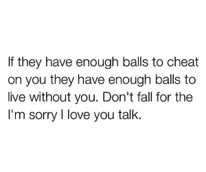 cheat, iloveyou, and sorry image