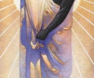 fabric, purple, and sun image