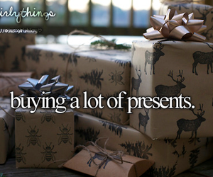 presents, buying, and christmas image