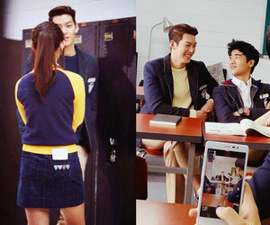 bts, kim ji won, and kim woo bin image