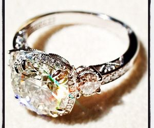 ring, diamond, and vintage image