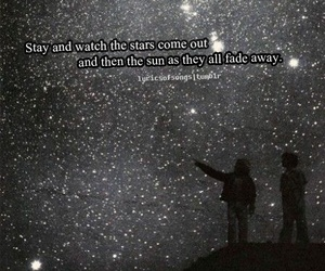 couple, night, and quote image