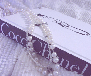 chanel, book, and pearls image