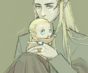 Legolas, thranduil, and LOTR image