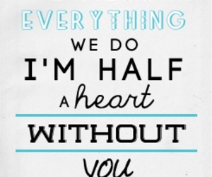 half a heart, one direction, and Lyrics image