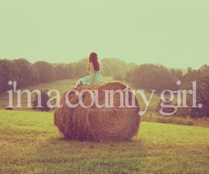 country, country girl, and hay image