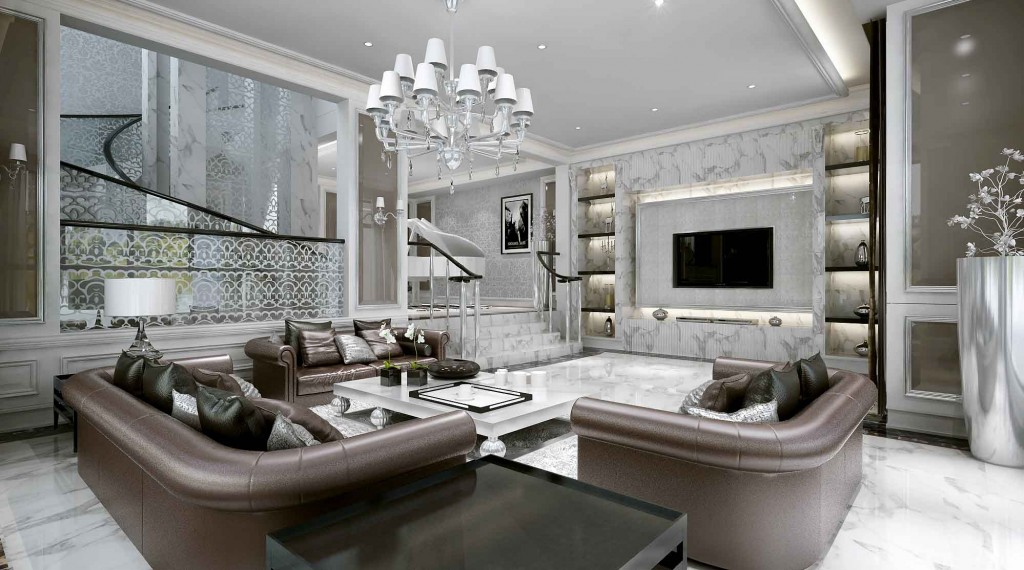 Luxurious Big Sofas Design In Modern Stylish Living Room ...