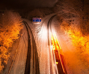 autobahn, branches, and cold image