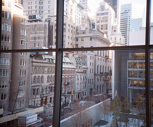 city, building, and window image