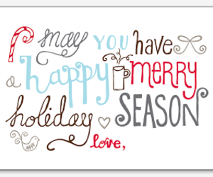 card, holiday, and merry image