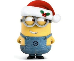 christmas, minions, and cute image