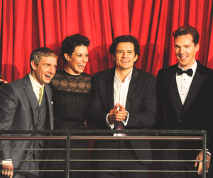 Martin Freeman, orlando bloom, and benedict cumberbatch image