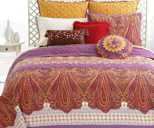 bed, paisley, and boho image