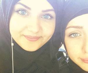eyes and hijab image