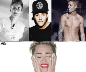 miley cyrus, justin bieber, and wrecking ball image