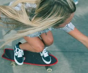girl, skate, and blonde image
